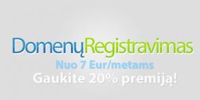 Domenų registravimas