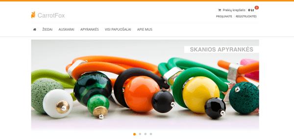 Elektroninė parduotuvė carrotfox.com