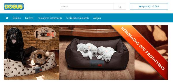 Elektroninė parduotuvė dogus.lt