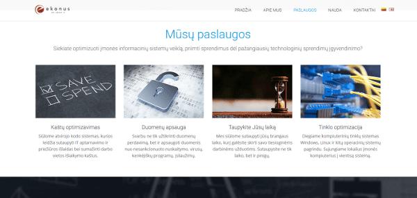 Internetinė svetainė ekonus.lt