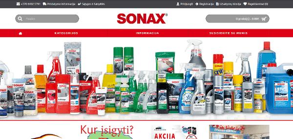 Elektroninė parduotuvė e-sonax.lt